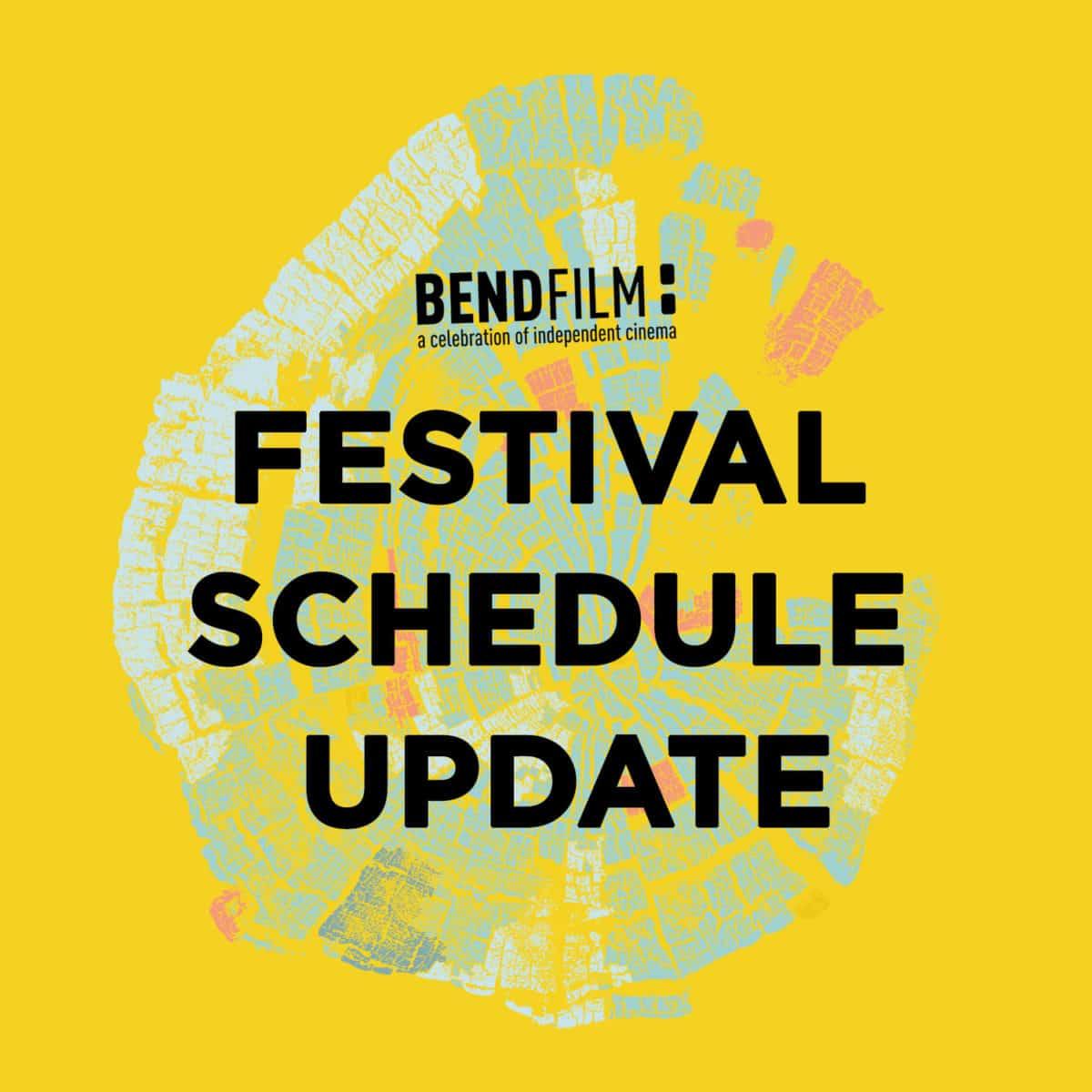 2021 Festival Schedule Update
